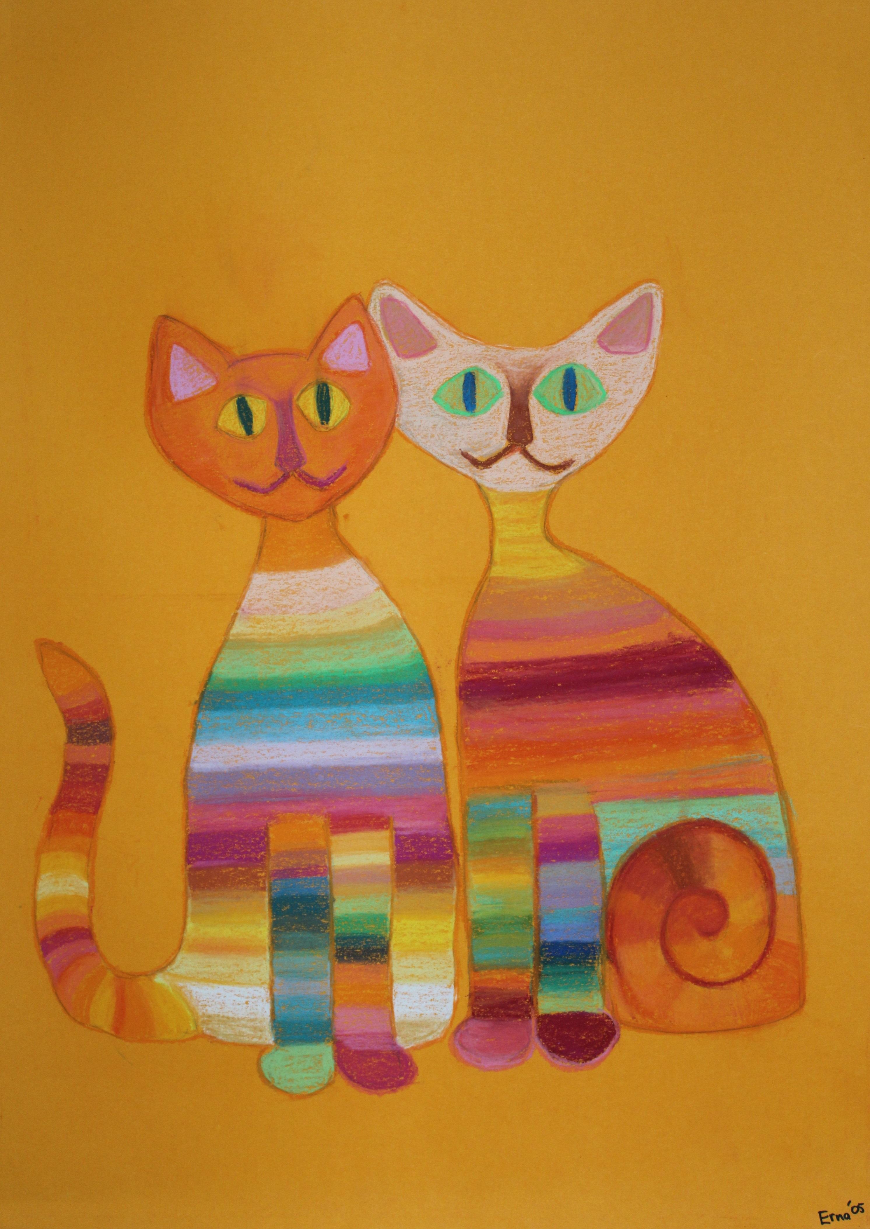 K009 Gekleurde katten