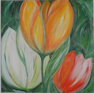 tulpen met acryl