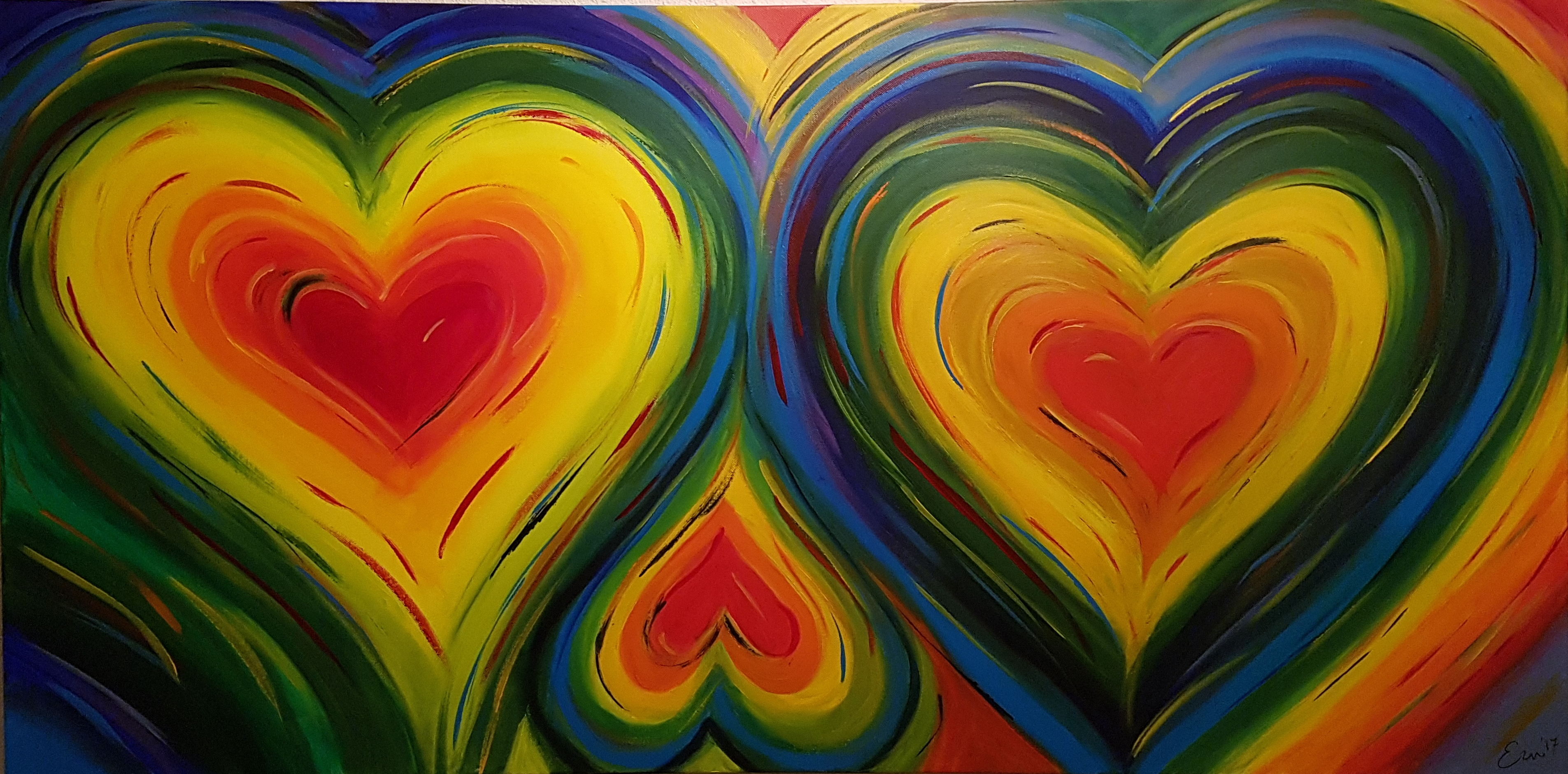 Color your heart 1.40 x 0.70 m