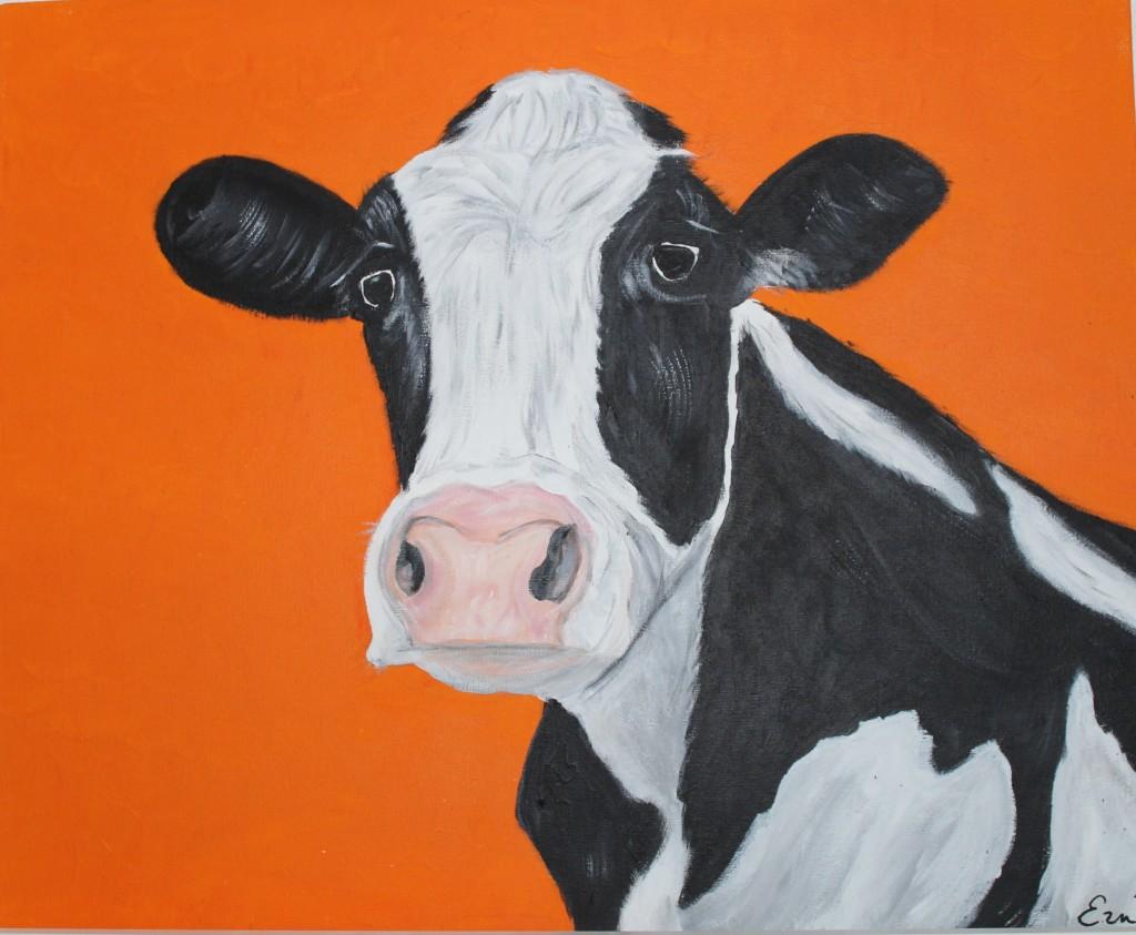 Koe : acryl op canvas 40 x 50 € 62,50